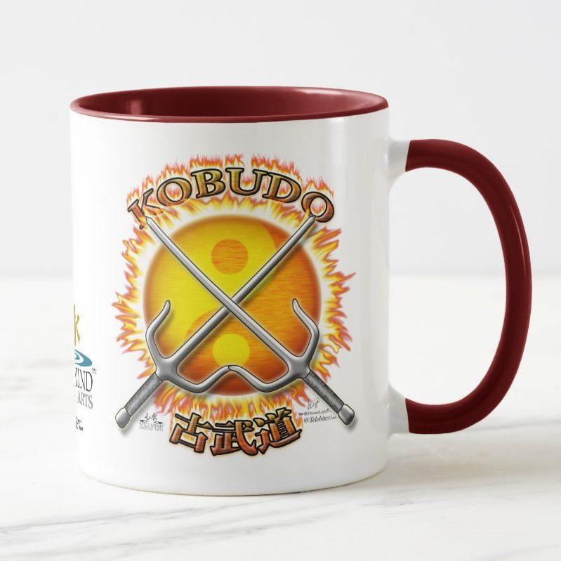 Blazing Sun Yin Yang Kobudo Coffee Mug