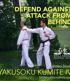 How to Defend Against an Attack from Behind - Yakusoku Kumite IV A Video Study