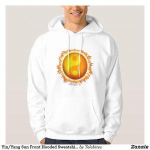 Yin/Yang Sun Front Hooded Sweatshirt