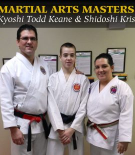 Kyoshi Todd Keane and Shidoshi Kristen Keane with Sempai MJ Scaramozzino Still Mind Martial Arts Masters Series
