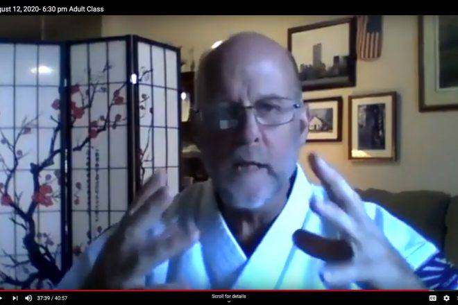 Shihan Goddard Online Karate Class