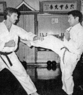 A Simple Man – My Life with Soke Nagamine - Sensei Bill George + Soke Takayoshi Nagamine in the Honbo Dojo Okinawa 1984