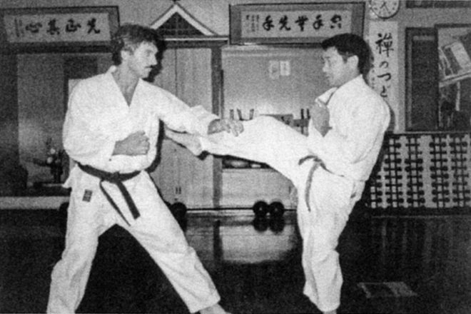 A Simple Man – My Life with Soke Nagamine - Sensei Bill George + Soke Takayoshi Nagamine in the Honbo Dojo Okinawa 1984