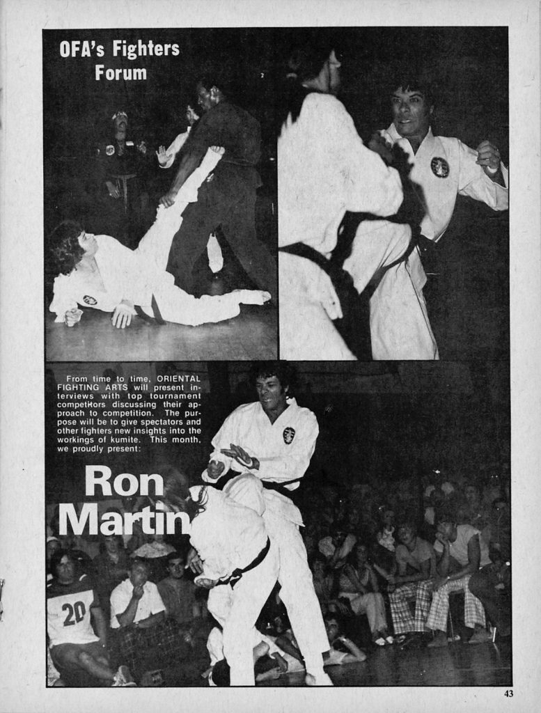 Oriental Fighting Arts Magazine February 1975 Fighters Forum article featuring Ron Martin - PDF