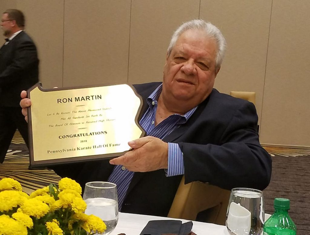 Hanshi-sei Ron Martin was inducted into the Pennsylvania Karate Hall of Fame in 2018